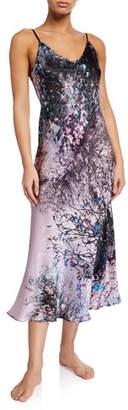 Christine Lingerie Mystique Floral-Print Silk Nightgown