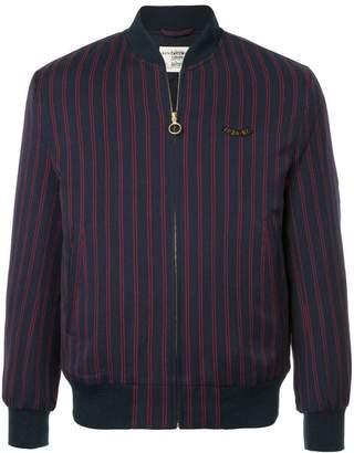 Kent & Curwen striped bomber jacket