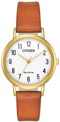 Citizen Eco-Drive Women's Chandler Leather Watch