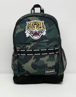 Hollister tiger backpack in camo