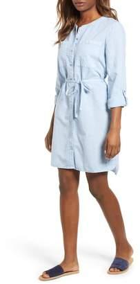 Caslon Linen Cotton Shirtdress (Regular & Petite)