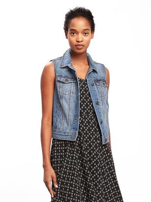 Denim Trucker Vest for Women $32.94 thestylecure.com
