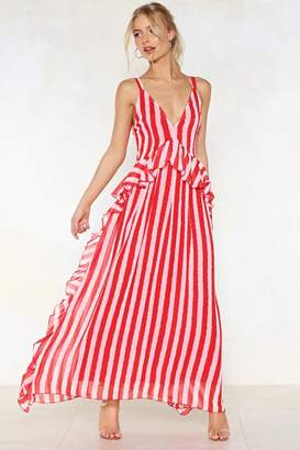 Nasty Gal Walk Stripe in Maxi Dress
