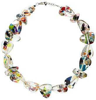 Jackie Brazil Flintstone Cascade Necklace, Multi