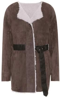 Isabel Marant Arsene shearling-lined suede jacket
