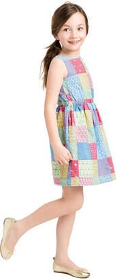 Vineyard Vines Girls Original Patchwork Tie Dress