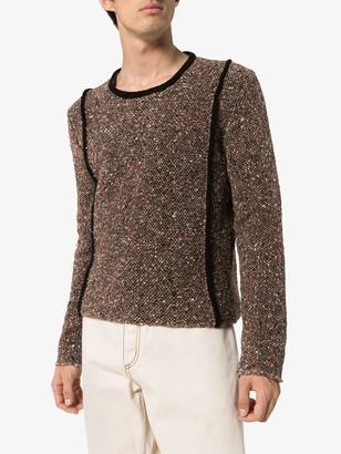 Eckhaus Latta carpet knitted jumper