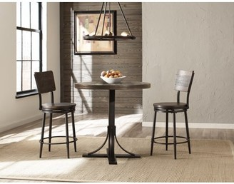 Hillsdale Furniture Jennings 3 Piece Counter Height Dining Set with Swivel Counter Height Stools