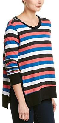 Pam & Gela Women's Multicolor Stripe Sweatshirt