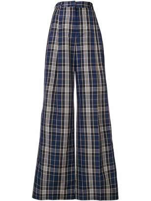 Sonia Rykiel checked wide leg trousers