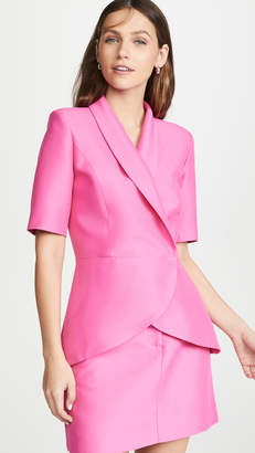 Brandon Maxwell Crossover Shawl Lapel Jacket