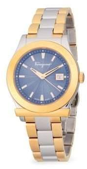 Salvatore Ferragamo Two-Two Stainless Steel Bracelet Watch