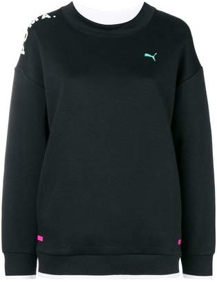 Puma sheer panel sweatshirt