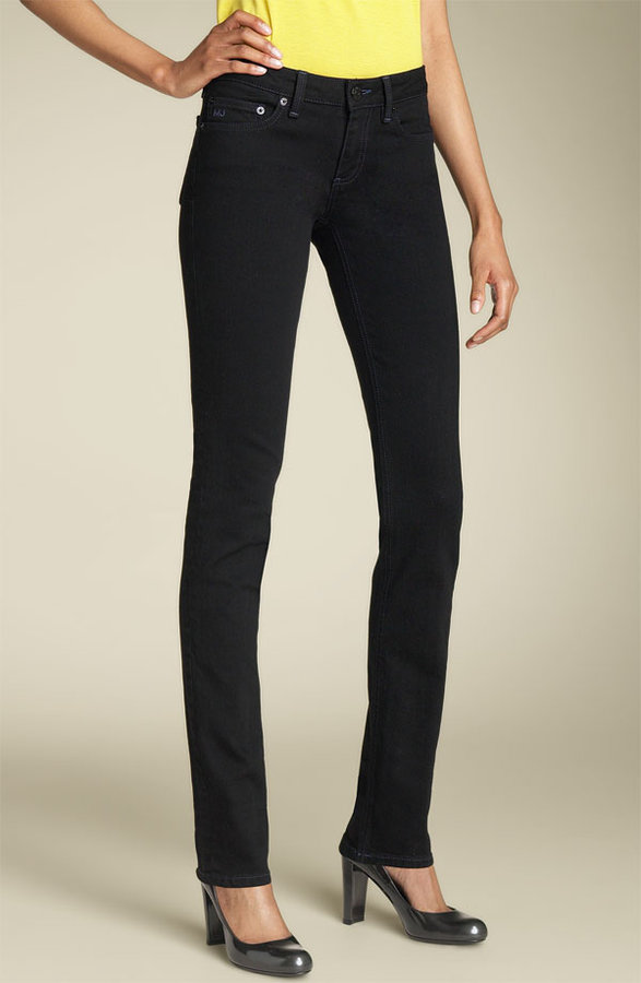 MARC BY MARC JACOBS 'Chrissie' Stretch Denim Jeans (Black)