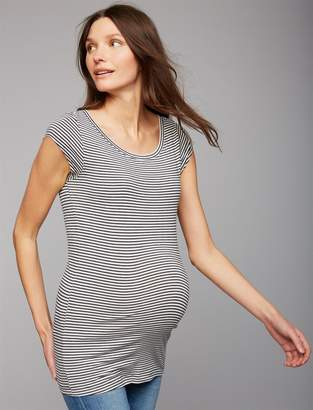 A Pea in the Pod Boat Neck Maternity Tee