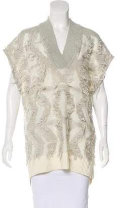Rebecca Taylor Wool-Blend Frayed Sweater w/ Tags