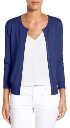 Women's Halogen Three Quarter Sleeve Cardigan $46 thestylecure.com