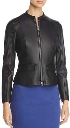 BOSS Samuta Zip Leather Jacket - 100% Exclusive