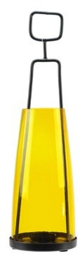 "Northlight 14.5"" Retro Inspired Transparent Yellow Decorative Glass Tea Light Candle Holder"