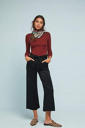 Paige Sutton High-Rise Cropped Wide-Leg Jeans