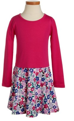 Toddler Girl's Tea Collection Floral Skirted Dress $29.50 thestylecure.com
