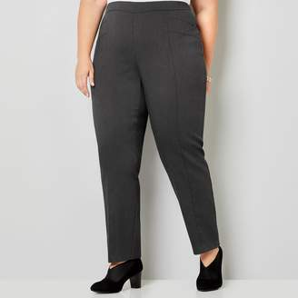 Avenue Super Stretch Pull-On Ankle Zip Pant In Charcoal