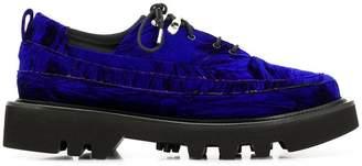 Rombaut velvet lace-up shoes