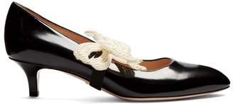 Gucci Elaisa detachable-bow leather pumps