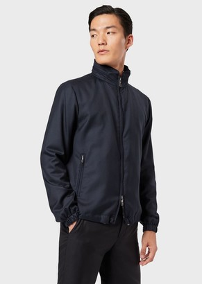 Giorgio Armani Water Repellent Cashmere Blouson With Full-Length Zip