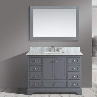 Charlton Home Castellanos 48 Single Bathroom Vanity Set with Mirror