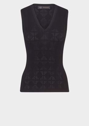Versace Rombo Knit Tank