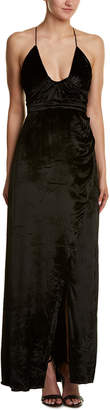 The Jetset Diaries Velvet Silk-Blend Maxi Dress
