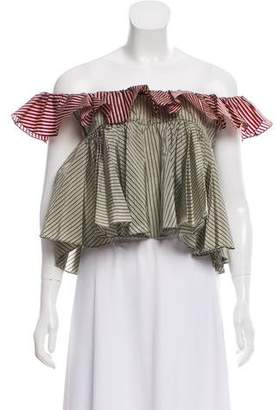 Tome Off-The-Shoulder Ruffle-Accented Top