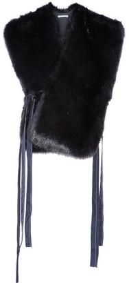 Helmut Lang - Faux Fur Vest - Navy $425 thestylecure.com