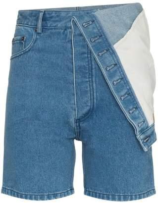 Y/Project Y / Project asymmetric denim shorts