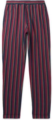 President's Striped Cotton Drawstring Trousers