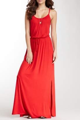 Loveappella Drawstring Maxi Dress