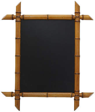 One Kings Lane Vintage Antique French Bamboo Framed Chalkboard - Rose Victoria