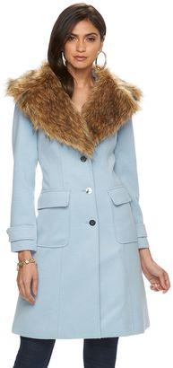 Women's Jennifer Lopez Faux-Fur Coat $200 thestylecure.com