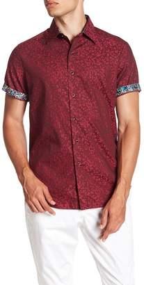 Robert Graham Linwood Short Sleeve Classic Fit Print Woven Shirt