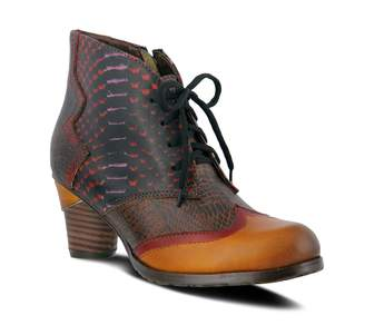 Spring Step L'Artiste Leather Lace-up Booties - Nabar