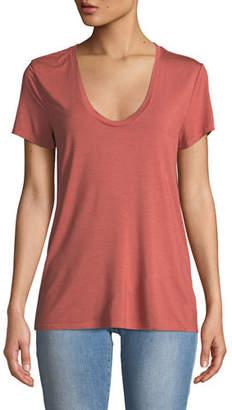 Splendid U-Neck Jersey Short-Sleeve Top
