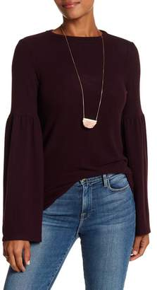 H By Bordeaux Long Bell Sleeve Sweater