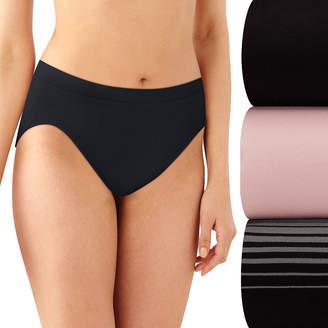 Bali Comfort Revolution 3 Pair Microfiber High Cut Panty Ak83
