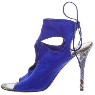 Aquazzura Snakeskin Sexy Thing Sandals