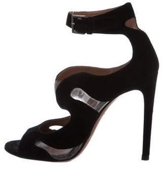 Alaia Cutout Ankle Strap Sandals