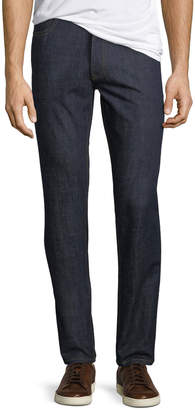 Brioni Men's Dark-Wash Stretch-Denim Jeans, Navy