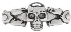 Alexander McQueen Silver Skull Ring $295 thestylecure.com