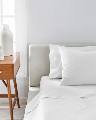 Splendid Washed Percale Solid Sheet in White