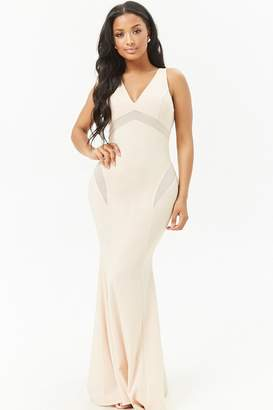 Forever 21 Semi-Sheer Prom Dress